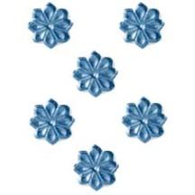 Steel Blue Dresden Foil Flowers ~ 102