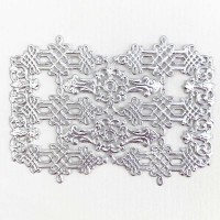 Silver Dresden Foil Celtic Flourishes  and Corners ~ 12
