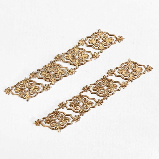 Antique Gold Dresden Foil Embellishments ~ 8