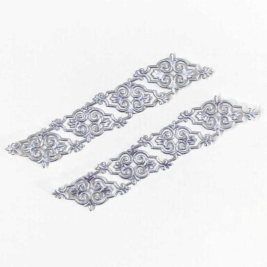 Silver Dresden Foil Embellishments ~ 8