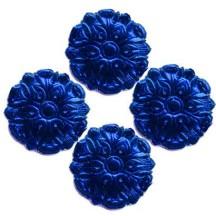 Dark Blue Dresden Foil Medallions ~ 24
