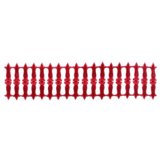 Red Dresden Foil Embellishments ~ 18
