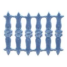 Steel Blue Dresden Foil Embellishments ~ 18
