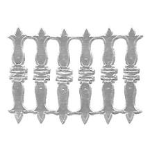 Silver Dresden Foil Embellishments ~ 18