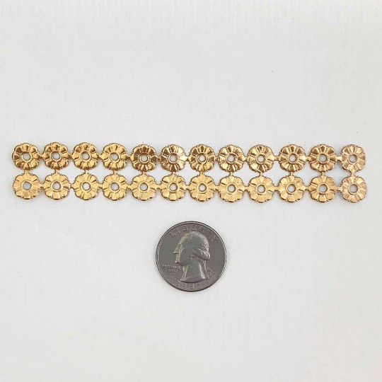 Antique Gold Dresden Foil Button Medallions~ 20