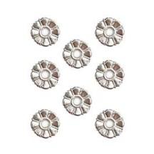 Silver Dresden Foil Button Medallions~ 20