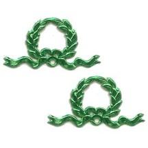 Green Dresden Foil Christmas Wreaths ~ 12