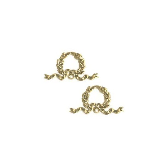 Gold Dresden Foil Christmas Wreaths ~ 12