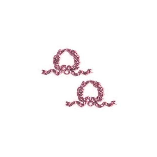 Pink Dresden Foil Christmas Wreaths ~ 12