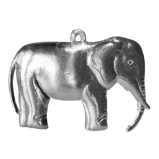 Extra Large Silver Dresden Elephant ~ 2