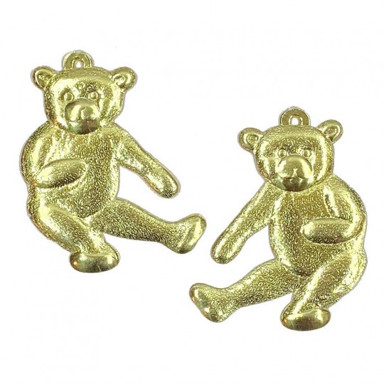 Extra Large Gold Dresden Foil Teddy Bears ~ 2