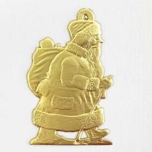 Extra Large Gold Dresden Santas ~ 2