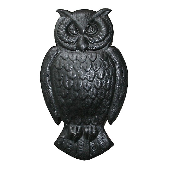 Extra Large Black Dresden Owls ~ 2