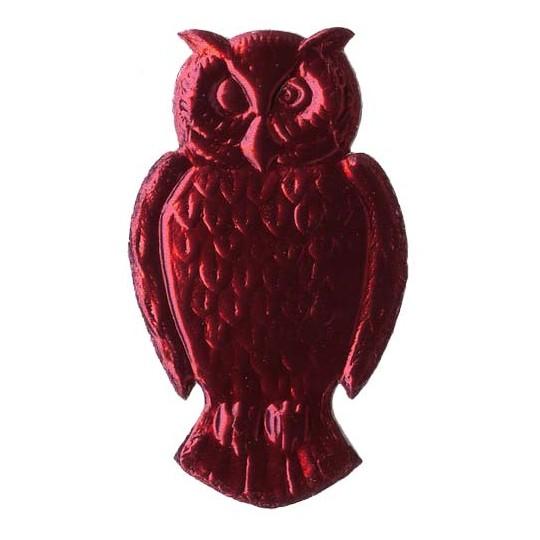 Extra Large Burgundy Dresden Foil Owls ~ 2