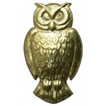 Extra Large Gold Dresden Foil Owls ~ 2