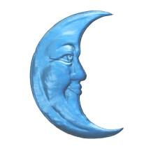 Extra Large Light Blue Dresden Foil Moons ~ 2