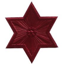 Extra Large Burgundy Dresden Foil Star or Halo ~ 1