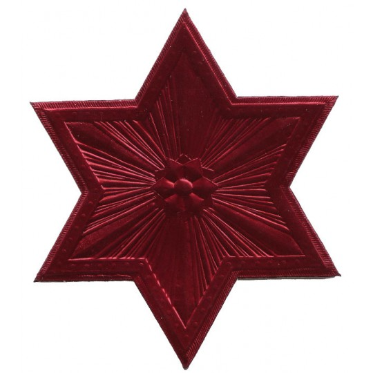 Extra Large Burgundy Dresden Foil Star or Halo ~ 1