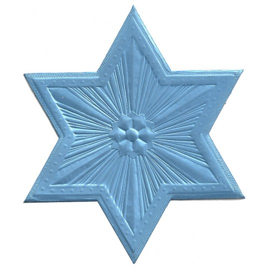 Extra Large Light Blue Dresden Foil Star or Halo ~ 1