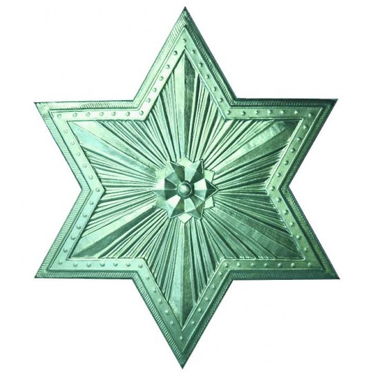 Extra Large Aqua Dresden Foil Star or Halo ~ 1
