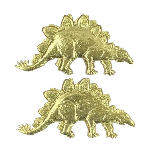 Extra Large Gold Dresden Foil Stegosaurus ~ 2