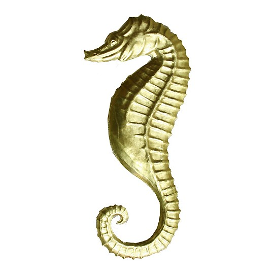 Extra Large Gold Dresden Seahorse ~ 2