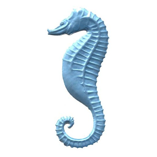 Extra Large Light Blue Dresden Seahorse ~ 2