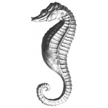 Extra Large Silver Dresden Seahorse ~ 2