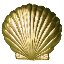 Extra Large Gold Dresden Scallop Sea Shell ~ 2