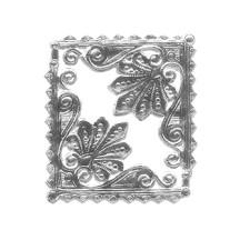 Extra Fancy Silver Dresden Foil Shell Corners ~ 8
