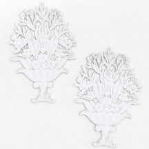 Fancy White Paper Dresden Flower Baskets ~ 2