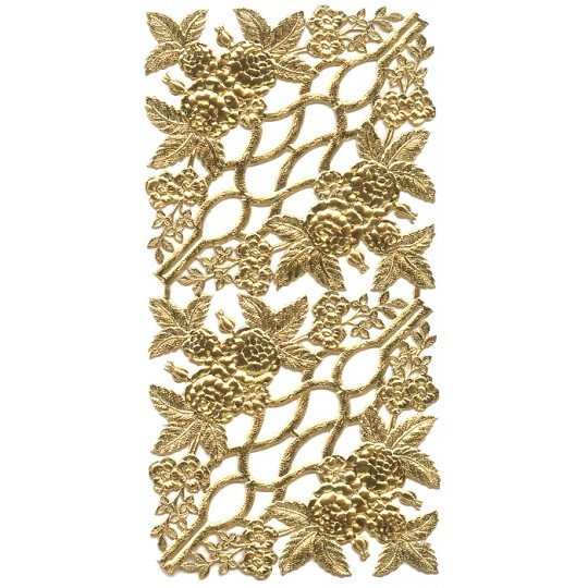 Extra Fancy Gold Dresden Foil Corners with Roses and Flowers ~ 4