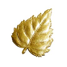Gold Dresden Foil Birch Leaves ~ 10