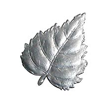 Silver Dresden Foil Birch Leaves ~ 10