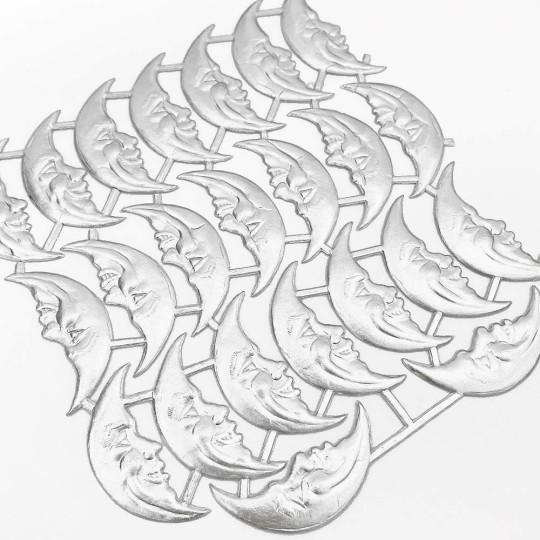 Silver Dresden Foil Smiling Moons ~ 23