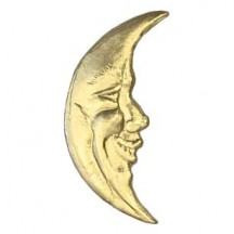 Gold Dresden Foil Smiling Moons ~ 23