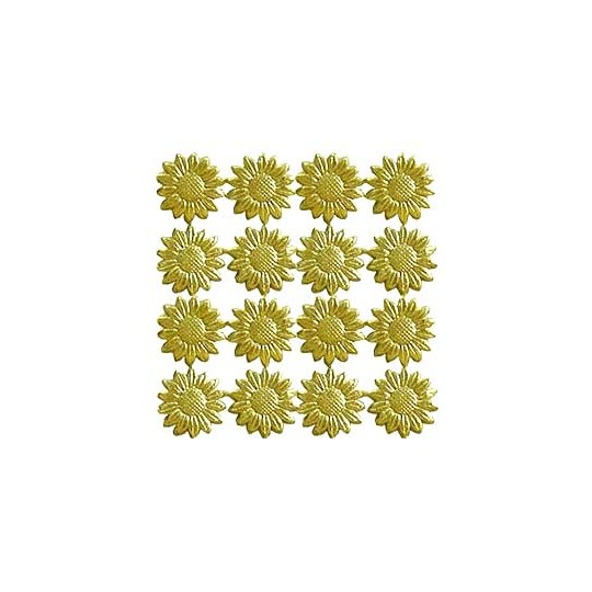 Gold Dresden Foil Daisies ~ 55