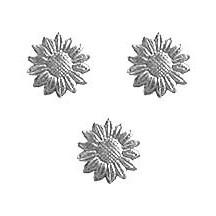 Silver Dresden Foil Daisies ~ 33