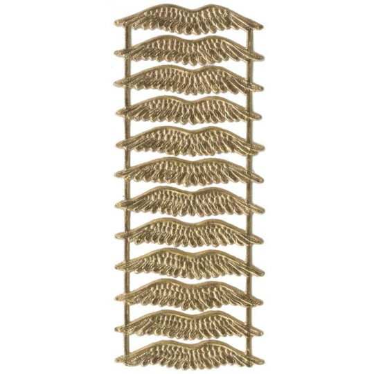 Gold Dresden Foil Wings ~ 12