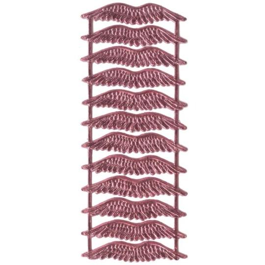 Pink Dresden Foil Wings ~ 12