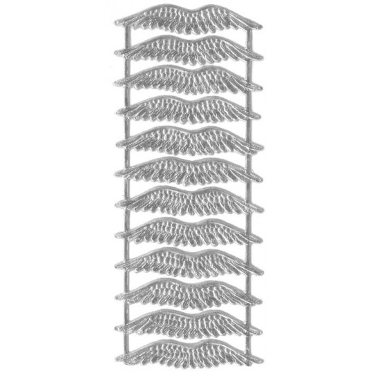 Silver Dresden Foil Wings ~ 12