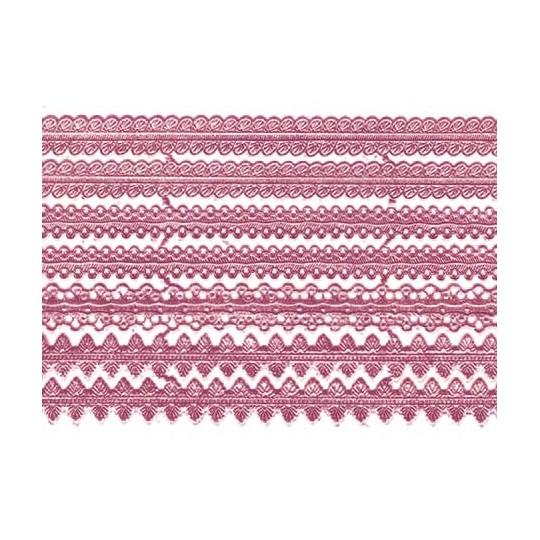 Assorted Pink Dresden Foil Trims