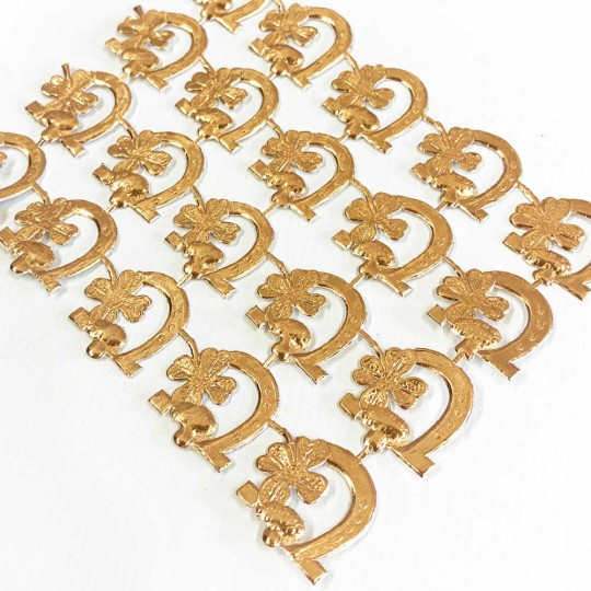Antique Gold Dresden Foil Luck Die-Cuts ~ 20