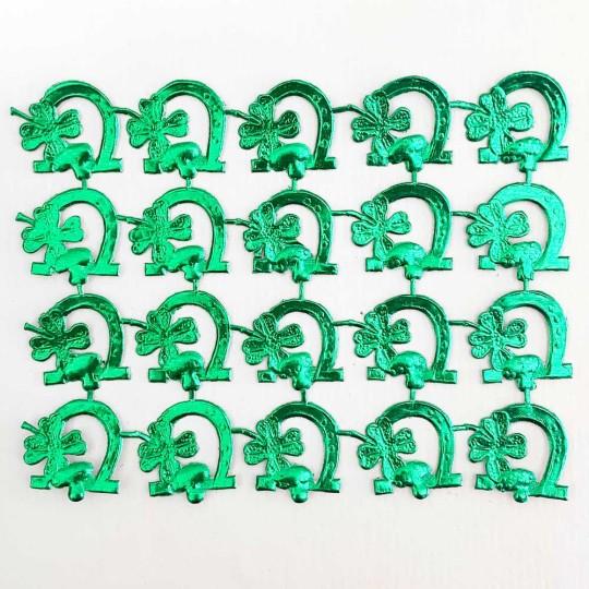 Green Dresden Foil Luck Die-Cuts ~ 20