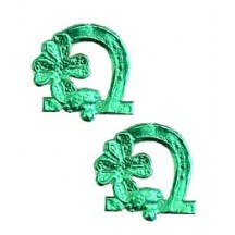 Green Dresden Foil Luck Die-Cuts ~ 20