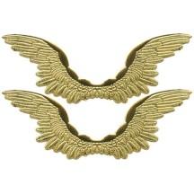 Large Gold Dresden Foil Wings ~ 6