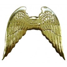 Large Shiny Gold Dresden Angel Wings ~ 2
