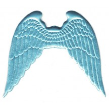 Large Light Blue Dresden Angel Wings ~ 2