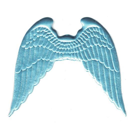 Large Light Blue Dresden Angel Wings ~ 2