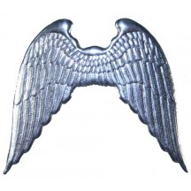 Large Shiny Silver Dresden Angel Wings ~ 2